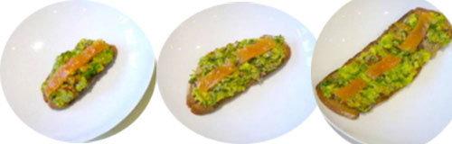 5. Тост с авокадо и лососем
