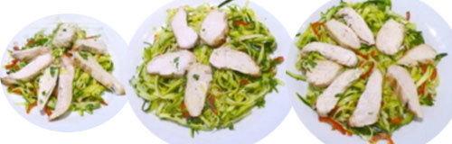 6. Салат из цуккини с курицей