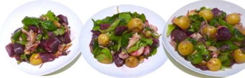 9. Картофельный салат со свеклой