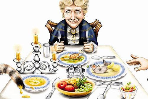 Новогодний стол рецепты из фильмов »Dinner for One«