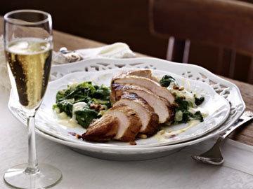 Третье блюдо Курица с соусом из шампанского