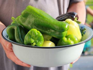 Зеленые и желтые овощи
