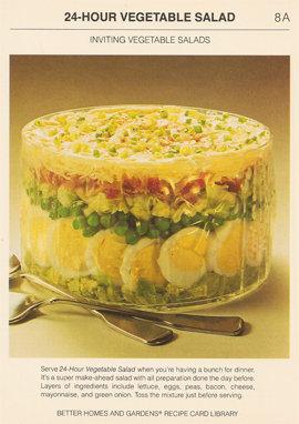 Особенно популярными были салаты с желатином в 50-х и 60-х гг. 20 века