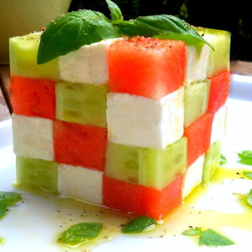Салат Кубик Рубика