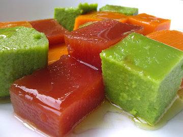 Салат из кубиков желе