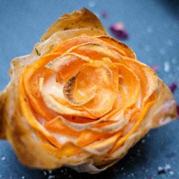 Зимние розы из овощей 2